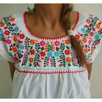 Blusas Bordadas Mexicanas Con Flores