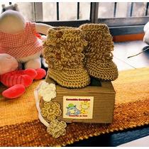 Escarpines Botitas En Crochet !!!!