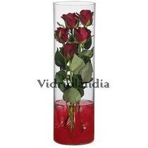 Florero Cilindro De 10x30,tubos De Vidrio Centro De Mesa