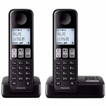Telefono Inalambrico Duo Philips D2352b/77 Negro Contestador
