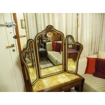 Antiguo Espejo Triptico Biscelado Orig Año 1940, Sala Baño