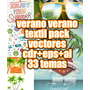 Verano Verano Pack De Vectores Ideal Textil Remerasbuzosdeco