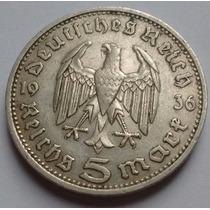 Tercer Reich - Alemania Nazi - 5 Reichsmark 1.936 D