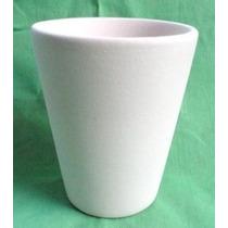2 Vasos Conicos Apiables En Bizcocho Cerámico
