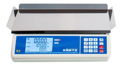 Balanza Comercial Digital Kretz Delta Eco 2 15 Kg 110v/220v Blanco