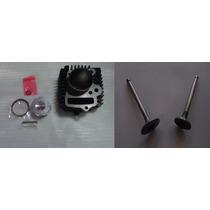 Cilindro Motomel Eco 110 Fundicion Con Piston Y Valvulas -2r