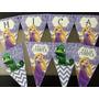 Cotillon Banderines Personalizados Rapunzel Princesas