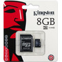 Memoria Micro Sd 8gb Kingston Clase 10 Con Adaptador Sd