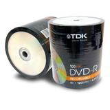 Dvd-r Virgen Tdk Estampados X100 Unid. Envios A Todo El Pais