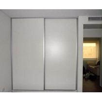 Frente Placard Melamina Blanco 150x240 Cm C/guías Aluminio