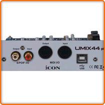 Icon Umix 44 Plugin - Placa Usb Audio Para Consola Umix 8