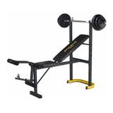 Gym Centro Banco Multi-ejercicios Importado Con Pesas Barra