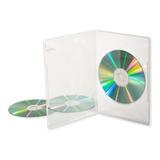 Caja Dvd Simple Slim Transp Folio 7mm Importadas X 25 Unid