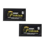 Hojas Para Afeitar Derby Premium X 2 Cajas Para Navaja Pelo