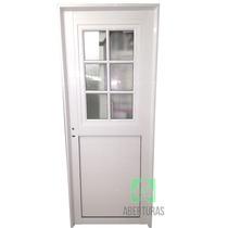 Puerta Aluminio Blanco C/postigo Rep Vid Stipolite 70x200