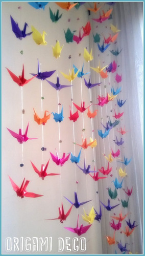 Colgante Grullas Origami Decorar Fiestassouvenirvidrieras