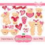 Kit Imprimible Ositos San Valentin Imagenes Clipart