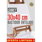 Bastidor Entelado Lienzo Shwey 30x40 Cms Apto Acrilico Oleo