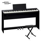 Piano Electrico Roland Fp30 + Mueble + 3 Pedales + Banqueta