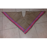 Poncho Triangular Arpillera Coya Niño