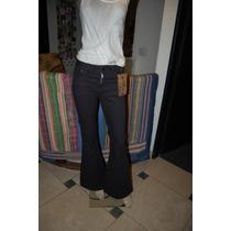 47 Street Pantalon De Jean Color Negro Con Detalle De Tachas