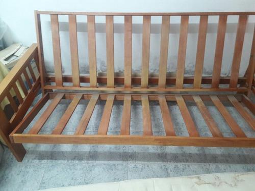 Futon nogal sillon cama 2 plazas 2100 launi precio for Sillon cama usado