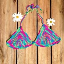 Top Tejido Al Crochet Bikini