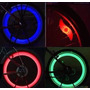 Luz Led Bicicleta Moto Seguridad Rueda Pack X 2 3 Colores