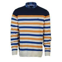 Sweater Pullover Buzo Brooksfield Hombre Hilo Algodon Rayado