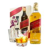Whisky Johnnie Walker Red Rojo + 2 Vasos X 750 Estuche Sufin