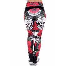 Calzas Mujer Calaveras Rock Code (moda Fitness Premium)