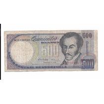 Liquido Billete De Venezuela. 500 Bolívares 1998