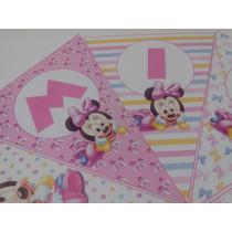 Banderin Personalizado Minnie Bebe