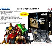 Mother Asus A88xm-a 1151 Ddr3 Multi-vga Athlon 64gb Gamer
