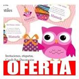 Kit Imprimible Lechuzas Buhos Coloridos Candy Deco Cumpl 11