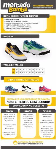 Zapatilla Botin Futbol 5 Topper San Ciro Liquidacion Oferta. Precio    1390  Ver en MercadoLibre e34ad39831f50