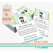 Comunión Varón - Estampita Para Imprimir Con Nenito