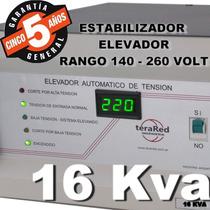 Estabilizador Elevador Automatico Tension 16 Kva Siempre 220