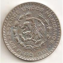 Mexico, Peso, 1961. Plata Baja. Brillante Sin Circular