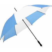 Paraguas Argentina Celeste Y Blanco Gigante Reforzado