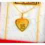 Conjunto De Oro 18kts 15 Años Con Cadena Grumeth