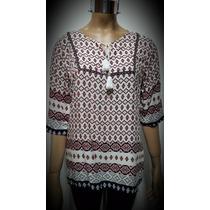 Blusa Camisola Con Pompones Estilo Hindu