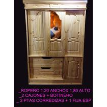 Ropero De Pino Puertas Corredizas Espejo Castelar Zona Oeste
