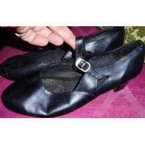 Zapatos Nº40-baile-españoles-dama Cuero Suela