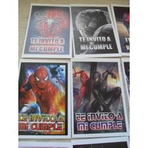 10 Invitaciones Cumpleaños Tinkerbell Spiderman Gabym
