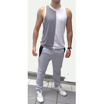 Combo Jogging+musculosa Fitnes Culturismo Gymshark Zyzz Gold