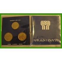 Monedas Mundial 78 (emision 77). Sin Uso.
