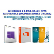 Windows 10 Pro + Office 2013 + Nod 32 Antivirus (3 Dvds)