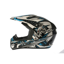 Casco Zpf Motocross Azul M Dp906