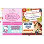 Etiquetas Escolares Personalizadas. Stickers Utiles Colegio
